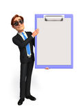 Young Business Man with notepad Stock Photography