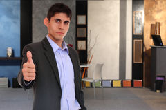 Young business man at office building Stock Photos