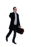 Young business man over the cellphone Royalty Free Stock Photography