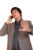 Young business man over the cellphone Stock Photo