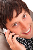 Young business man over the cellphone Stock Image