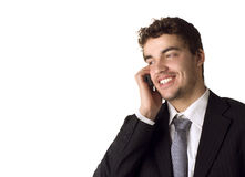 Young business man on the phone Stock Photos