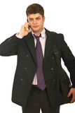 Young business man with phone mobile Stock Photo