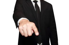 Young business man pointing 2 Stock Photography