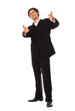 Young business man pointing at you Royalty Free Stock Image