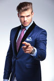 Young business man pointing at you Stock Photography