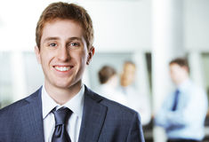 Young business man portrait Stock Photos