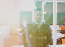 Young business man portrait  at modern office Stock Image