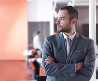 Young business man portrait  at modern office Royalty Free Stock Image