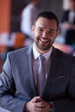 Young business man portrait  at modern office Stock Photo