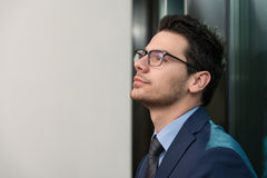 Young Business Man Portrait At The Office Stock Photo