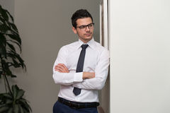 Young Business Man Portrait At The Office Royalty Free Stock Photography