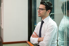 Young Business Man Portrait At The Office Royalty Free Stock Photos