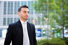 Young business man portrait outdoor Stock Photo
