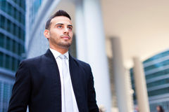 Young business man portrait outdoor Royalty Free Stock Images