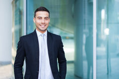 Young business man portrait outdoor Stock Images