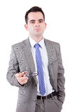 Young business man posing Stock Image