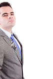 Young business man posing. Isolated over white Royalty Free Stock Images