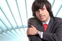 Young business man posing. Isolated Stock Photo