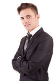 Young business man posing. Isolated over white Stock Photos