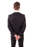 Young business man posing. Isolated over white Royalty Free Stock Photos