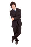 Young business man posing. Isolated over white Stock Images