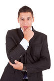 Young business man posing. Isolated over white Royalty Free Stock Photography