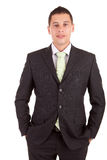 Young business man posing Royalty Free Stock Photos