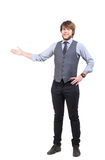 Young business man presenting Royalty Free Stock Photos