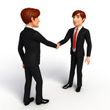 Young Business Man with shake hand Stock Image