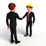 Young Business Man with shake hand Royalty Free Stock Photos