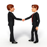Young Business Man with shake hand Royalty Free Stock Image