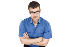 Young business man in shirt Royalty Free Stock Photo
