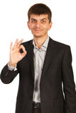 Young business man show okay Royalty Free Stock Photo