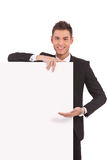 Young business man showing  board Stock Photography