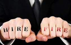 Business man fist royalty free stock photography
