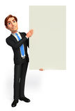 Young Business Man with sign Royalty Free Stock Images