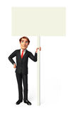 Young Business man with sign Stock Image