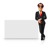 Young Business Man with sign Stock Photos