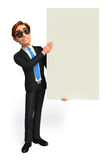 Young Business Man with sign Royalty Free Stock Photography