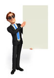 Young Business man with sign Royalty Free Stock Photos