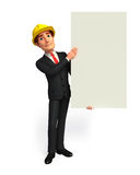 Young Business man with sign Stock Images