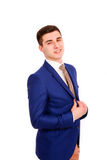 Young business man  smiling isolated on white background Stock Images