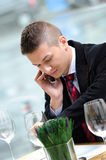Young business man talking on the phone Royalty Free Stock Photo