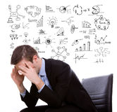 Young business man think and planning Stock Photography