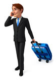 Young Business man with traveling bag Stock Photo
