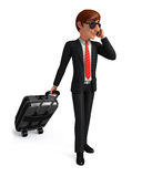 Young Business Man with traveling bag Stock Photos