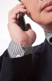 Young business man use cellphone Stock Images