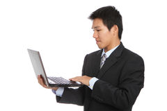 Young business man using notebook Stock Photography
