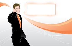 Young business man vector illustration Royalty Free Stock Photos